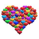 mång- heart2 Arkivfoton
