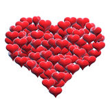 mång- hjärta Arkivfoto