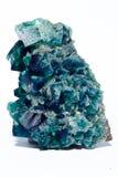 Mång- kulör fluoritemineralkristall royaltyfri fotografi
