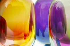 Mång- kulör vibrerande krökt crystal design Färgrikt abstrakt begrepp b Arkivfoton