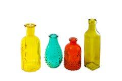 Mång- kulöra flaskor Royaltyfria Foton