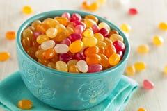 Mång- kulöra Jelly Bean Candy Arkivfoton