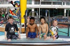 Mång- racebarn fotografering för bildbyråer