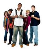 mång- ras- deltagare för högskolagrupp Royaltyfri Bild
