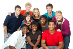 mång- ras- deltagare för högskolagrupp Royaltyfria Foton