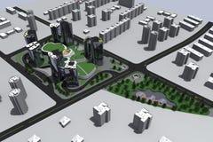 Mång- residental komplex Royaltyfri Foto