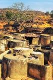 Mång--rum boning i den Talensi byn, Ghana arkivfoto