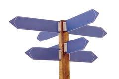 mång- signpost för riktning arkivfoto