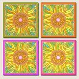 mång- solros för ljus mosaik Arkivfoton