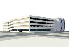 Mång--storey parkeringshus Arkivbild