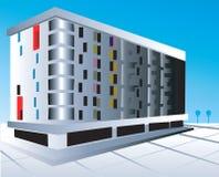 Mång- storeybyggnad Arkivbild