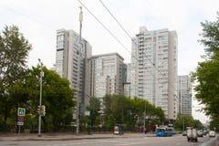 Mång--våning bostads- byggnader i Moskva 13 07 2017 Arkivfoto
