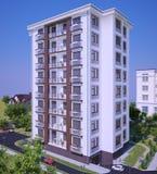 Mång--våning modern byggnad Arkivfoto