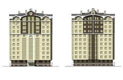 Mång--våning modernt hus 2 Fotografering för Bildbyråer