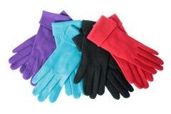 mång- woollen för färgade handskar Arkivfoto