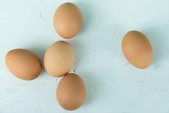 Många ägg Arkivfoton