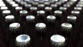 Många ölflaskor, tolkning 3D royaltyfri illustrationer