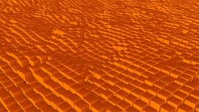 Många abstrakt begreppkuber, optisk illusion, den moderna datoren frambragte bakgrunden för tolkningen 3D Arkivfoton
