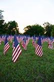Många amerikanska flaggan royaltyfri foto