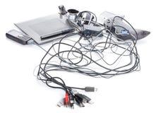 många apparater usb Arkivbild