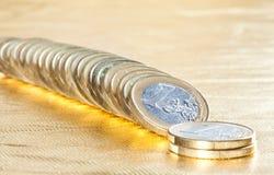 Många blanka euromynt Royaltyfria Foton