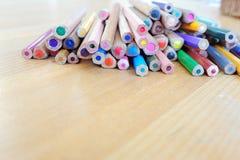 många blyertspennor Royaltyfri Foto