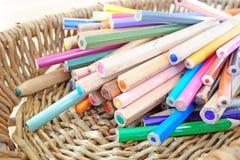 många blyertspennor Royaltyfria Bilder