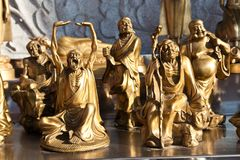 många buddha kines statystil Arkivfoto