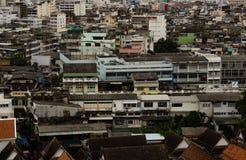 Många byggnad i Thailand Arkivbilder