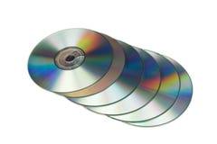 många cd s Arkivbilder