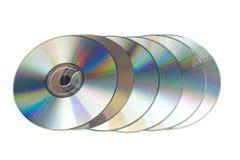 många cd s Arkivbild