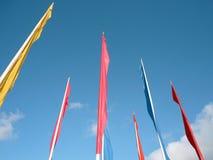 Många color flaggor Royaltyfri Fotografi