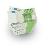 Många 100 eurosedlar Arkivfoto