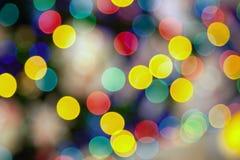 Många färgade ljus som var suddiga i fokus Royaltyfri Fotografi