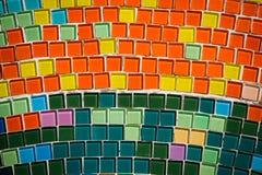 Många färgrik mosaik royaltyfria bilder