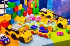 Många färgrika leksaker Royaltyfri Fotografi