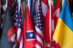 Många flaggor Fotografering för Bildbyråer