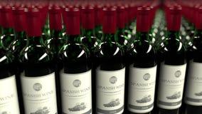 Många flaskor av spanskt vin, tolkning 3D Royaltyfri Bild