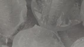 Många is fryst kristall stock video