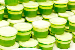 Många gör grön efterrätten Arkivfoto
