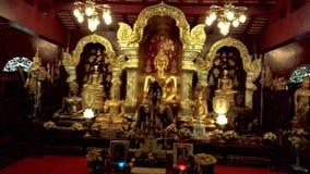 Många guld- Buddhastuckatur Royaltyfria Bilder