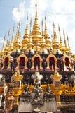 många guld pagodaöverkant Royaltyfri Foto