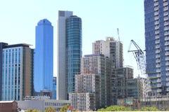 Highrisestadsbyggnader Australien Arkivbild