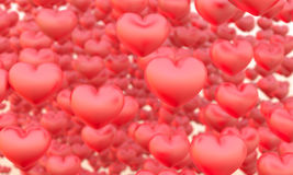 Många hjärtor Arkivbild