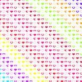 Många hjärtor på vit Fotografering för Bildbyråer