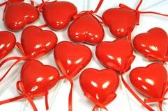 många hjärtor red Arkivbilder