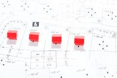 Många hus på jordplanet Fotografering för Bildbyråer