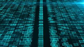 Många klungor av konstgjord intelligens, dator frambragd modern abstrakt bakgrund, 3d framför stock video