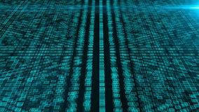 Många klungor av konstgjord intelligens, dator frambragd modern abstrakt bakgrund, 3d framför arkivfilmer