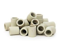 Många kombinerade monteringar för plast- rör Royaltyfri Bild